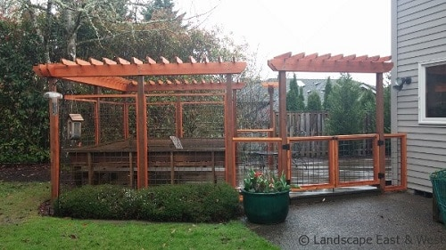 dog run with pergola