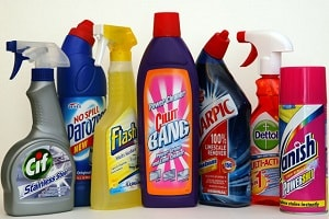 Dogs hate the smell of household cleaners.