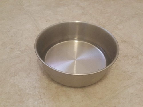 dog bowl filled with water
